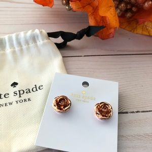 Kate Spade Rose Gold Garden Garland Stud Earrings